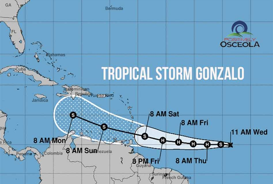 Tropical Storm Gonzalo officially forms in the Atlantic, sets new record