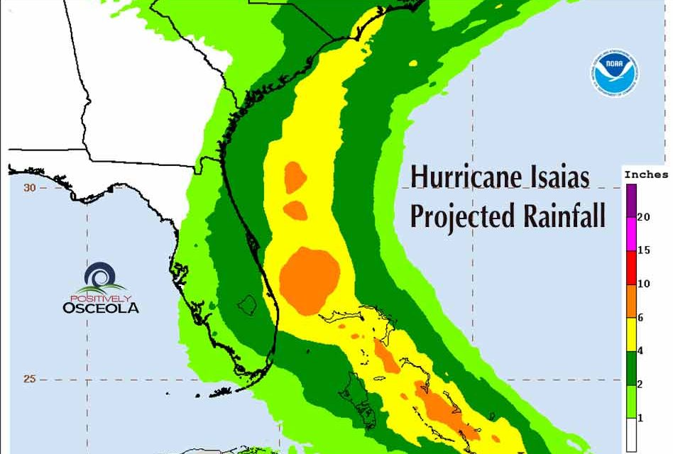 Hurricane Isaias continues to build strength and dump rain as Florida hopes for a miss