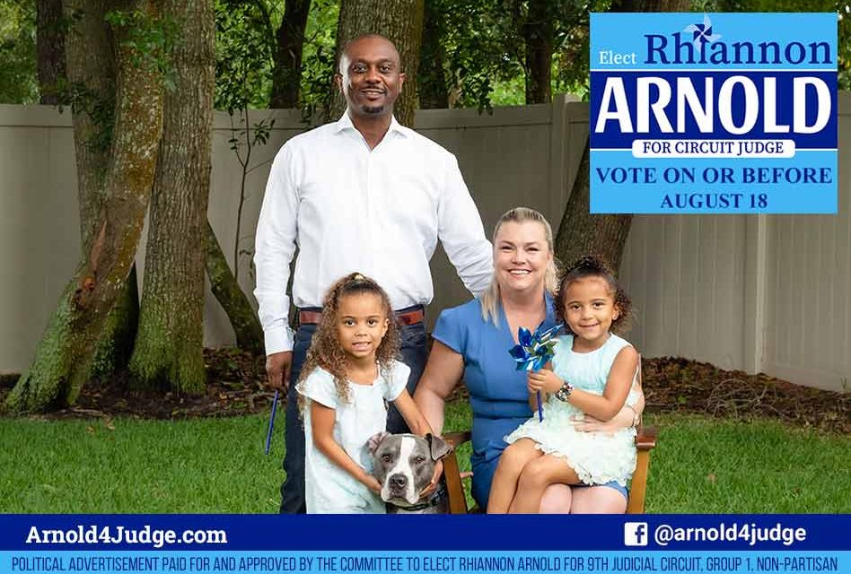 Rhiannon Arnold, running for Circuit Court Judge in the 9th Circuit, Group 1  – to serve the community