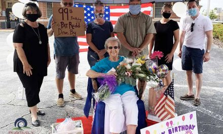 Community comes together to wish a very happy 99th birthday to St.Cloud resident, Pat Rudd!