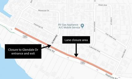Toho Water announces temporary lane closures on Neptune Rd. today, August 13