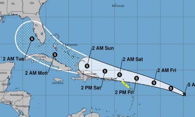 Tropical Depression 13 continues to move toward Florida, could become TS Laura later today