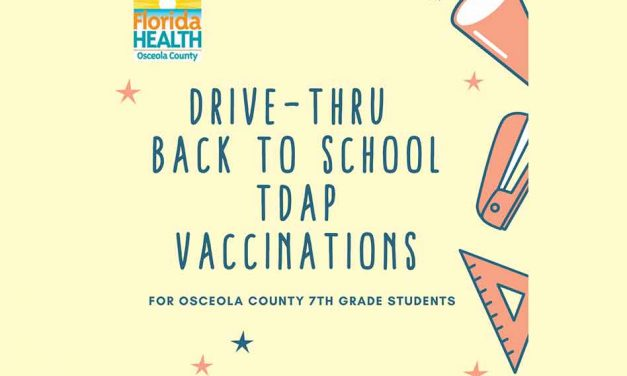 Osceola County Health Department to offer free TDAP vaccinations for 7th graders