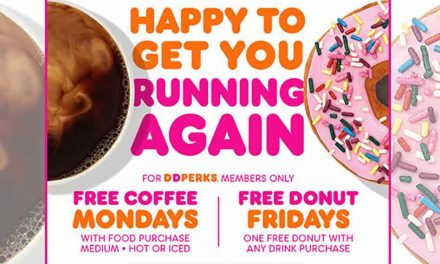 Its Dunkin's Free Coffee Monday, Free Donut Fridays for DD Perks Members for 2 weeks!