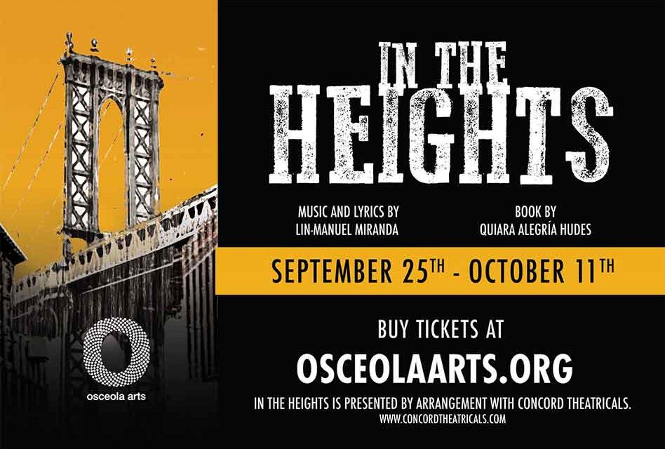 """Osceola Arts to present """"In the Heights"""" LIVE beginning in September"""