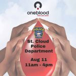 "St. Cloud Police Department to Host ""One Blood"" blood-drive Tuesday"