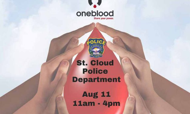 """St. Cloud Police Department to Host """"One Blood"""" blood-drive Tuesday"""