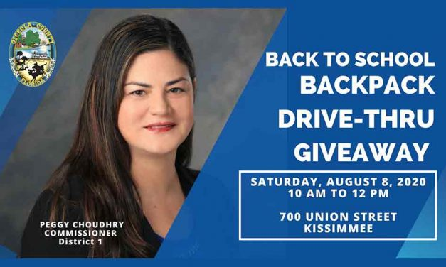 Osceola County District 1 Back to School Drive-thru event with Commissioner Peggy Choudhry