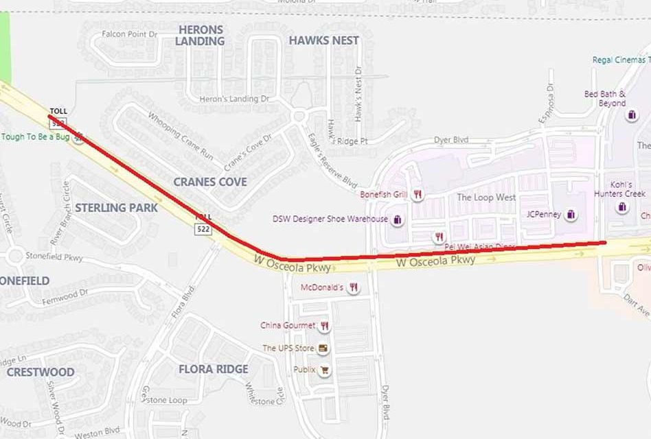 Osceola County announces upcoming road resurfacing lane closures on West Osceola Parkway