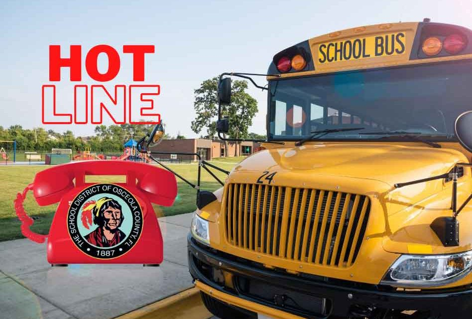 Have Back To School Transportation Questions Osceola School District S Transportation Hotline Has The Answers
