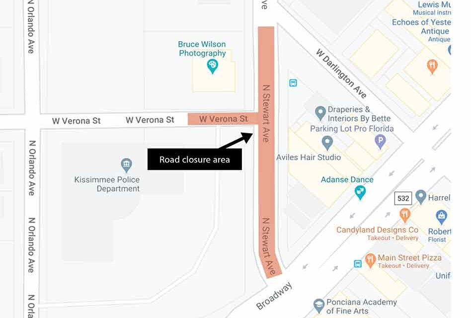 Toho Water Authority announces temporary closure to thru traffic on N. Stewart Avenue to begin on August 21 for sewer work