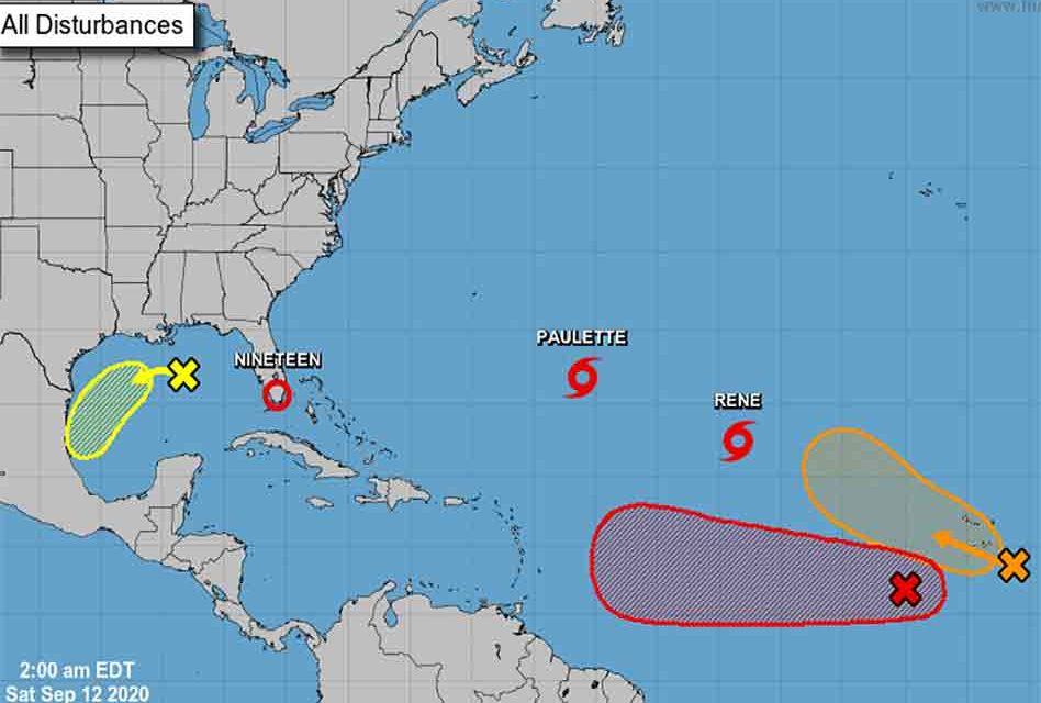 Tropical Depression 19 forms off Florida's east coast, heading toward the Gulf