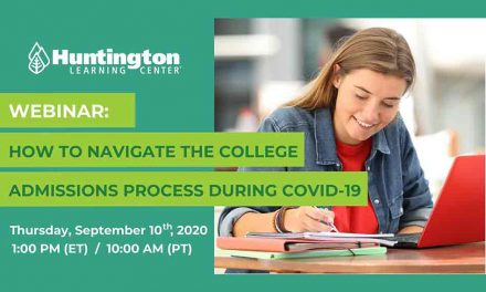 Huntington FREE webinar today at 1pm: How to Navigate the College Admissions Process During COVID-19