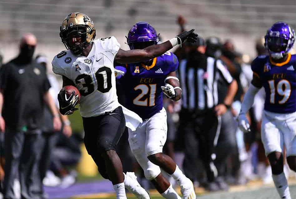 13th-ranked UCF Knights sink ECU Pirates in offensive blowout
