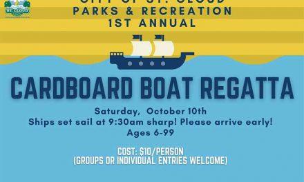 Be a part of City of St. Cloud's 1st Annual Cardboard Regatta – cuz you gotta regatta!
