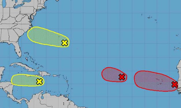 Four tropical waves in the Atlantic: No current threat to Florida