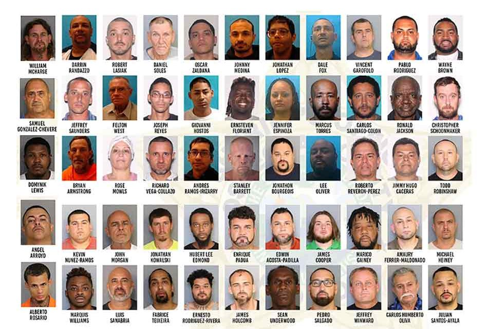 58 noncompliant sexual predators and sexual offenders arrested by Osceola and US Marshal Deputies