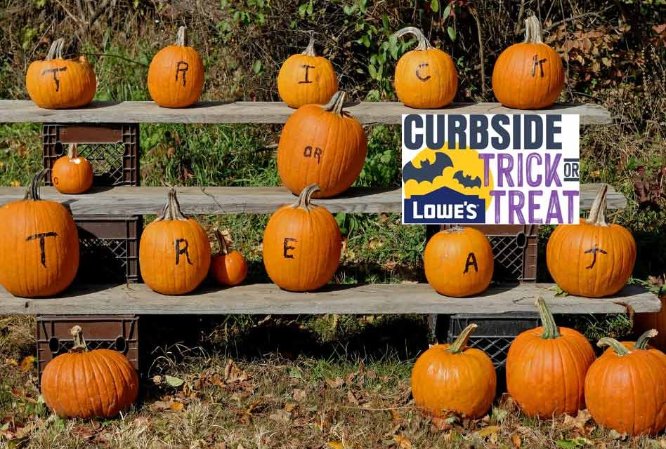 Lowe's to offer drive-through curbside trick-or-treating for the kiddos!