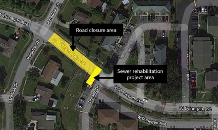 Closure to thru traffic on West Donegan Avenue to begin on October 19 for sewer rehab project