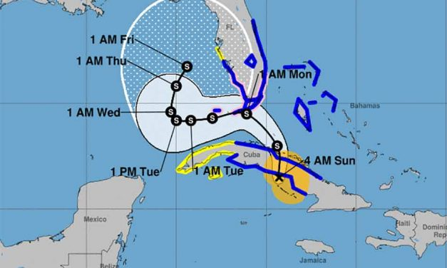 Tropical Storm continues to strengthen and edge closer to Florida