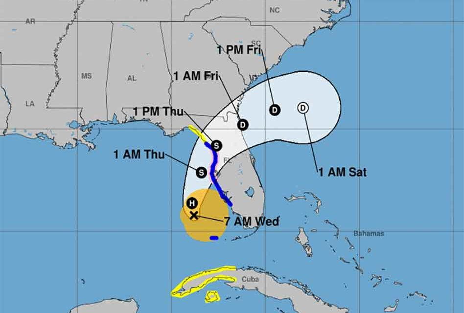 Eta strengthens back to a hurricane, possibly to weaken before second Florida landfall on Thursday