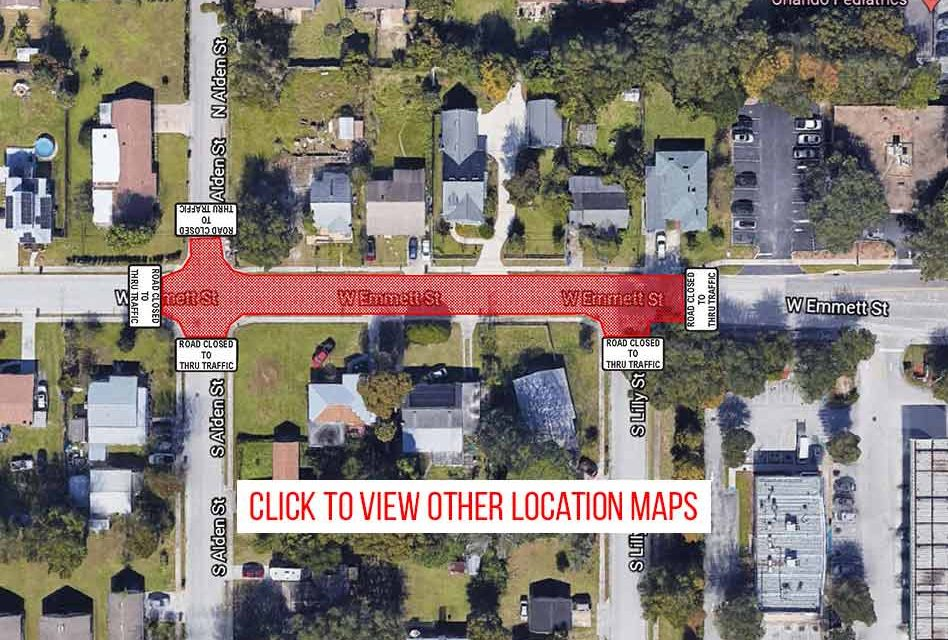 Road and lane closures in Kissimmee on December 16, 17 and 21 for road milling, paving and marking