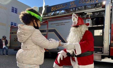 Osceola County Fire Rescue shows its giving heart and passion for community, along with Santa