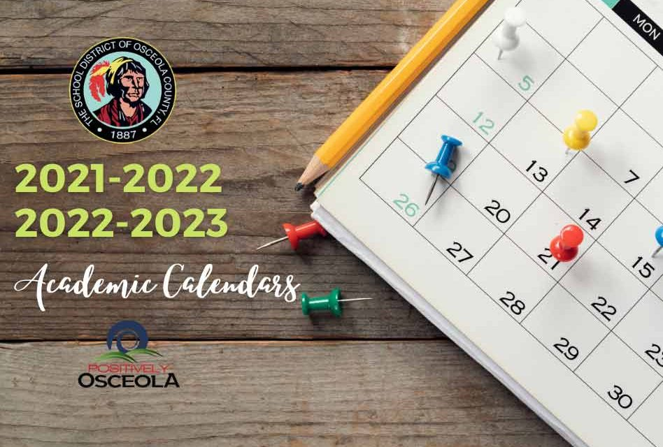Osceola School Calendar 2021-2022 Photos