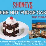 Shoney's Restaurants to offer FREE Hot Fudge Cake Day on Thursday, December 3