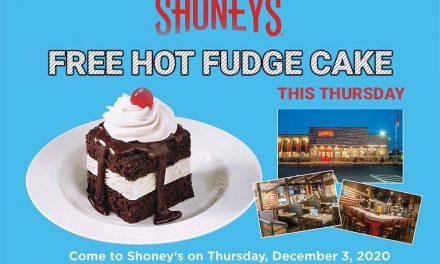 Shoney's Restaurants to offer FREE Hot Fudge Cake Day on Thursday, December 3