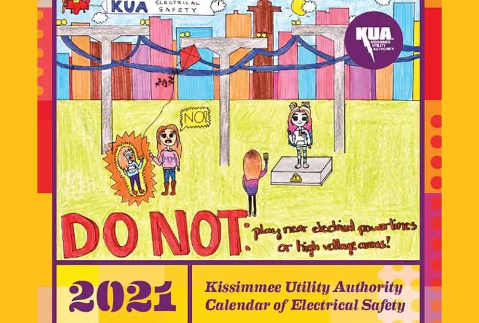 Kissimmee Utility Authority releases 2021 Calendar of Electrical Safety
