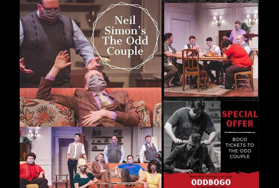 Special Offer for the Last Weekend of The Odd Couple at Osceola Arts