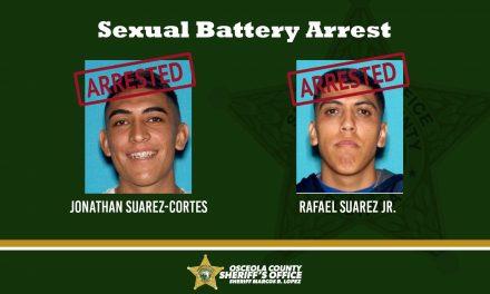 Osceola Sheriff Deputies arrest two men on Monday for sexual battery, given zero bond