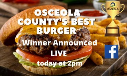 Winner of Osceola County's Best Burger to be announced today LIVE at 2pm!