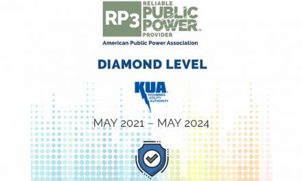 KUA nationally recognized as Reliable Public Power Provider at diamond level