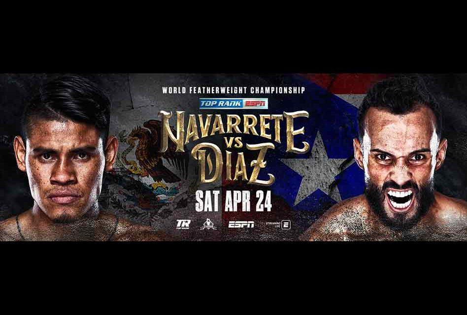 "Emanuel ""Vaquero"" Navarrete Defends Featherweight World Title Against Christopher ""Pitufo"" Diaz LIVE on ESPN"