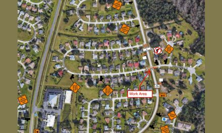 Road closure to thru traffic at the Mendoza Dr./Ln. and San Remo Rd. intersection to resume April 12 for sewer project