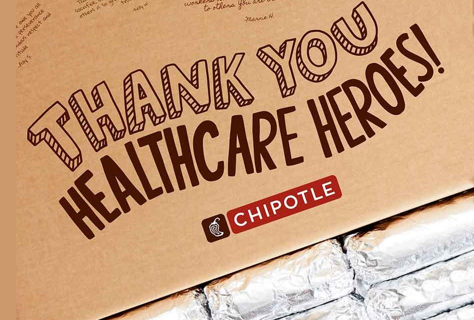 Chipotle invites fans to thank healthcare professionals, pledges 250,000 free burritos