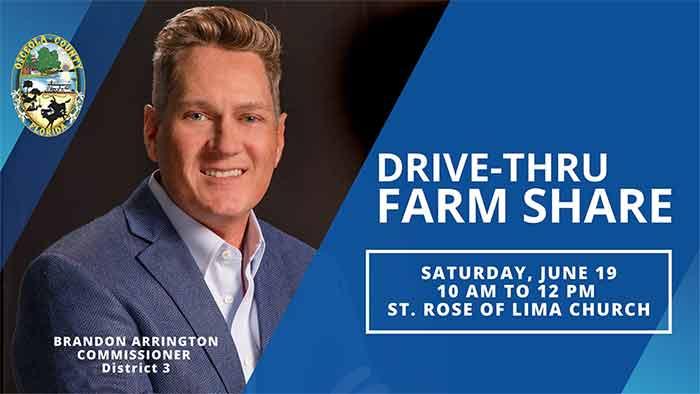 Osceola County Drive-thru Farm Share Food Distribution June 19