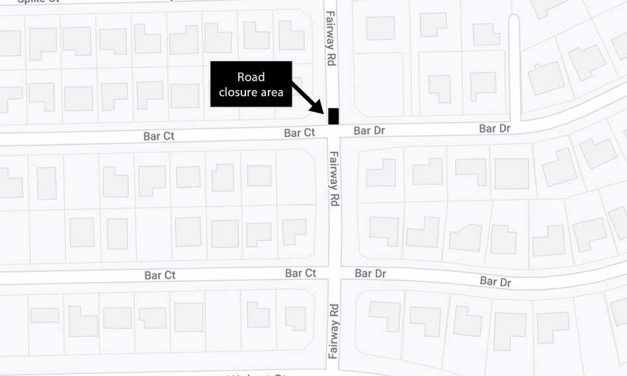 Closure to thru traffic on Fairway Rd. near northern Bar Ct./Dr. intersection for sewer project beginning June 14