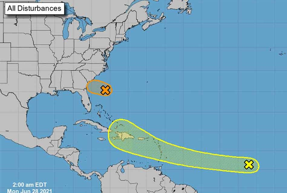 Tropics heat up as Tropical Depression 4 develops off South Carolina, 2nd storm grows in Central Atlantic