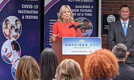 First Lady Jill Biden, Anthony Fauci make stop in Kissimmee to promote vaccinations