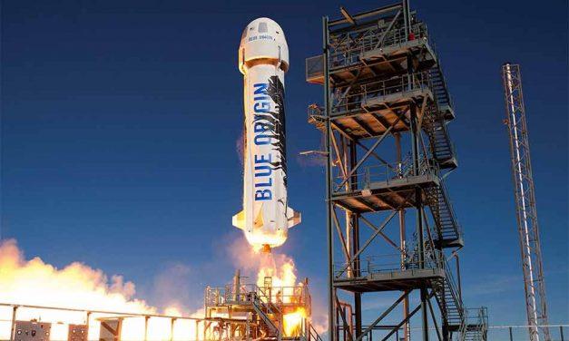 $28 million bid wins a trip to space aboard Blue Origin's New Shepherd rocket with Amazon's Jeff Bezos