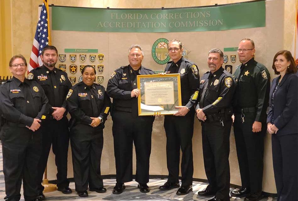 Osceola County Corrections Department receives Excelsior Recognition from Florida Commission