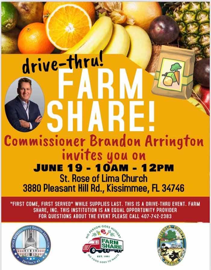 Farm Share Food Distribution Sat. June 19