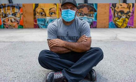 Orlando Health Dr. P. Phillips Hospital prep cook and self taught artist pays tribute to frontline healthcare workers