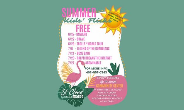 "City of St. Cloud to kick off free summer movies series ""Summer Kids Flicks"""