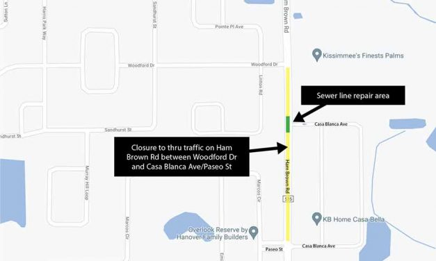 Road closure on Ham Brown Rd between Woodford Dr, Casa Blanca Ave, Paseo St rescheduled for July 26