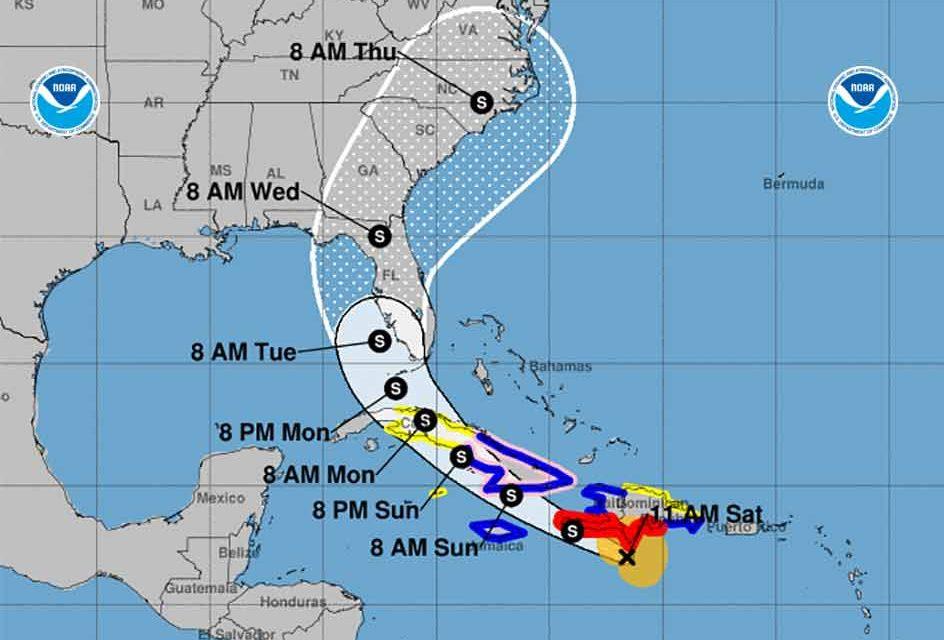 "Elsa weakens to Tropical Storm, continues to ""race"" toward Florida peninsula"