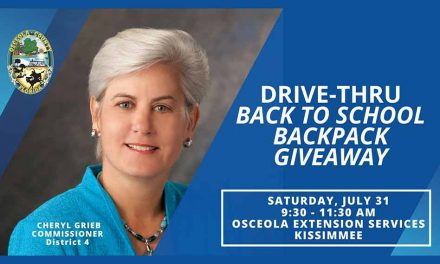 Osceola County to host Back to School  Backpack Drive-thru Giveaway with Commissioner Cheryl Grieb